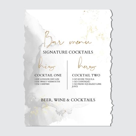 Wedding grey liguid ink, greeting invitation card with Luxury gold foil, marble texture background and Abstract flow style vector design template.