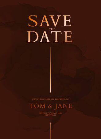 Marble  tender dusty red  holographic gold wedding . Burgundy dark tender ink splash, liquid flow. RSVP invitation Save the Date card.  イラスト・ベクター素材