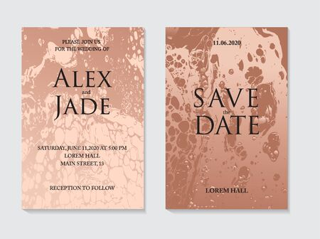 Marble liquid flow in bronze beige colors. Fluid design for background, presentation, cover, headline, planner art, invitation