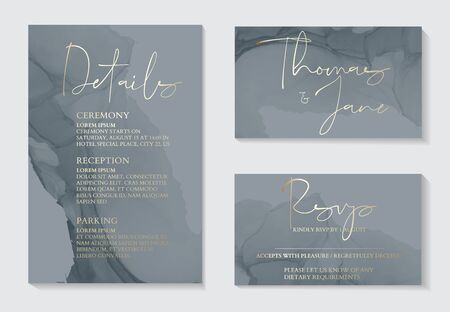 Soft grey fluid art  ang gold foil copper tender vector template. Liquid art. Applicable for design covers, presentation, invitation, flyers, annual reports, posters and business card.