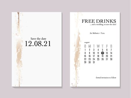 Elegant Save the date gold luxury wedding textures. Glitter foil marble texture. Beautiful rose gold backgrounds for advertising, poster, invitations, wallpaper, textile, typography.