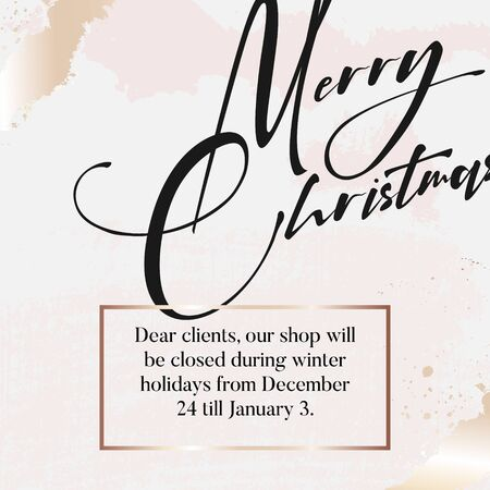 Merry Christmas luxury design in gold glitter beige colors with marble texture template. Winter holidays festive sparkle banner, poster, flyer, website, advertisind