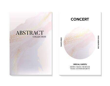 Luxury marble gradient pastel Gold texture background vector. Panoramic Marbling texture design for Banner, invitation, wallpaper, headers, website, print ads, packaging, poster, concert advertising. Фото со стока - 135470470