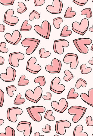 Heart seamless pattern. Valentine day love design
