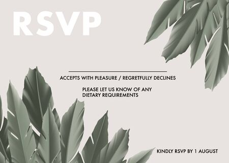 Khaki palm leaves  eco design, foliage jungle safari leaves. Evergreen tree frame rsvp card. Vector art.  イラスト・ベクター素材