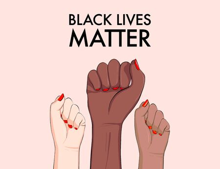 Stop racism, multiethnic equality concept, diverse respect poster. Tolerance woman hands gesture, arms support girls banner. Politic protest 2020, every life matter vector template. Anti racism sign.
