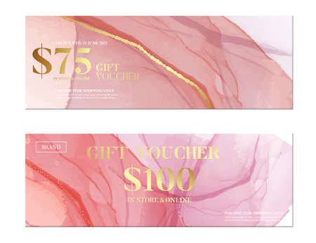 Pink watercolor banner, business pattern. Creative fine art acrylic paint. Coral soft blush palette wide headder shape. Rose gold smear illustration, vector art , fine art vector.