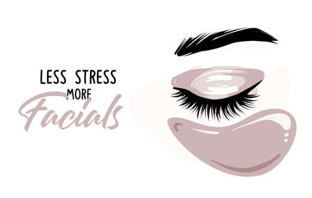 Lash making poster, beauty eye lashes design quote Stock Illustratie