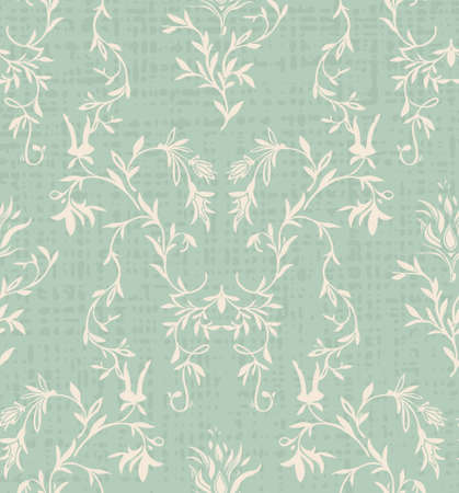 Acanthus geometric royal print, Vintage sage green texture. NAture classic background. Art deco old style wallapper vector
