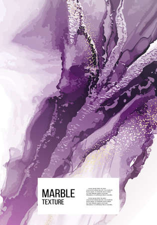 Original painting watercolor design, contemporary canvas Violet watercolor