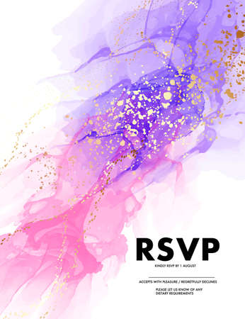 Pink violet watercolor ink digital paper design, acrylic ink mix perfect for website design, wedding stationery, mood boards, collage oil painting in vector