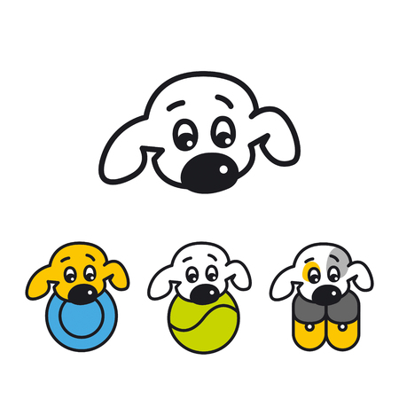 Buddy, the logo for zoo shop or zooclub, dog grooming, dog service, veterinary clinic, dog breeder, pet