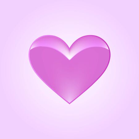 Pink heart as woman breast. Saint Valentine Day. Greeting card for love message