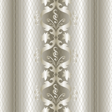 white gold vintage seamless pattern. Vector background