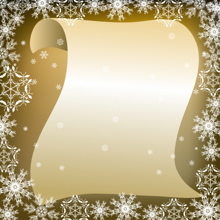 christmas list: fantastic writing frame Santa Claus Illustration