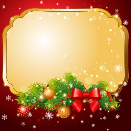 지사와 함께 인사말 카드 먹고 및 크리스마스 공 일러스트