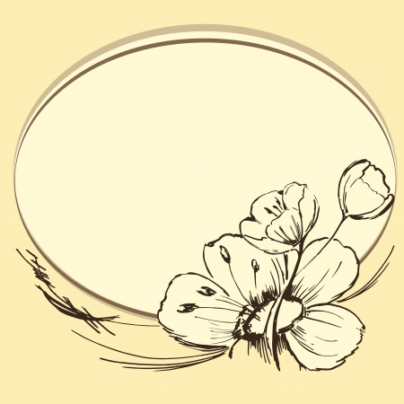Elegant Floral - Flowers Silhouettes. Vector Illustration  Vector