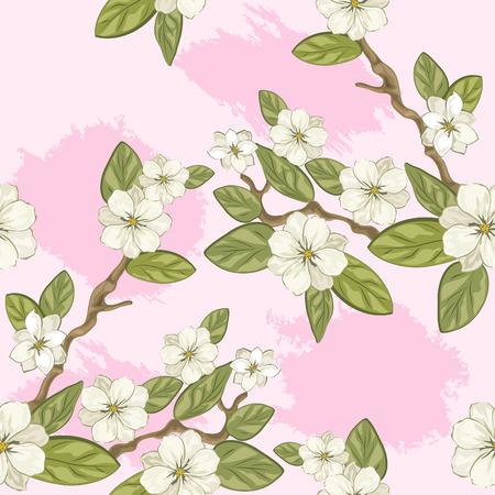 celebratory: Celebratory spring background with flowers illustration. Illustration