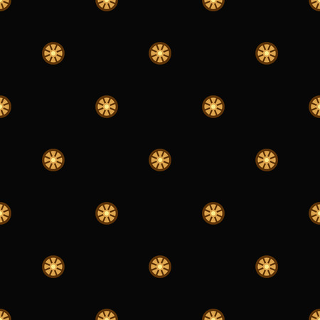 antic: Background with gold wheels for rich pattern. Vector illustration