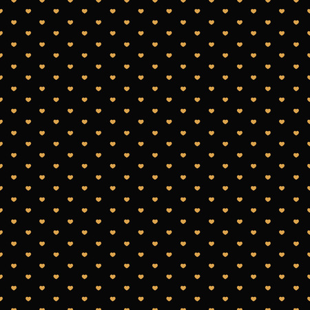 antic: Background with gold hearts for rich pattern. Vector illustration Illustration