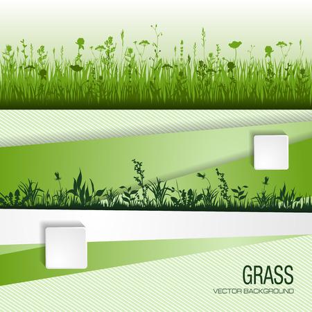 녹색 잔디와 추상적 인 배경입니다. 벡터 일러스트 레이 션