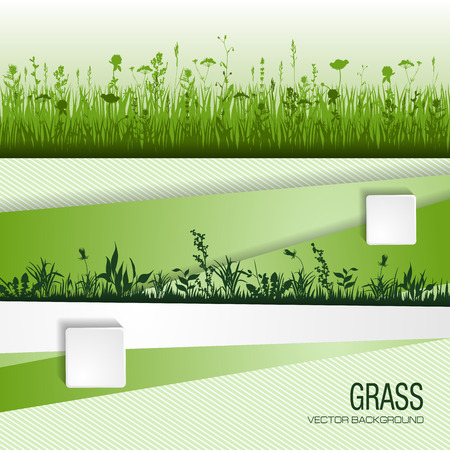 plant design: abstract background with green grass. vector illustration