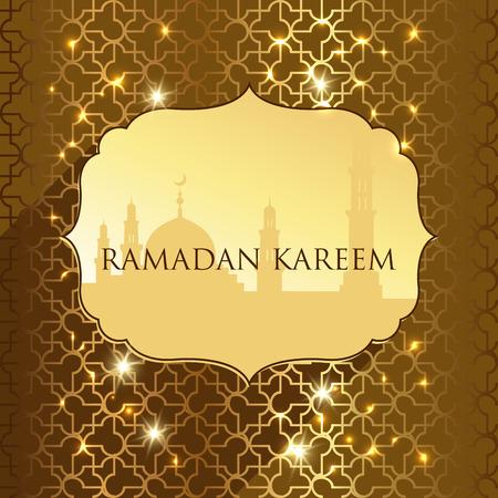 ramadan  kareem greetings  background. vector illustration 向量圖像