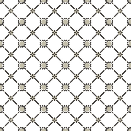 grey vintage geometrical seamless pattern. vector illustration Vector