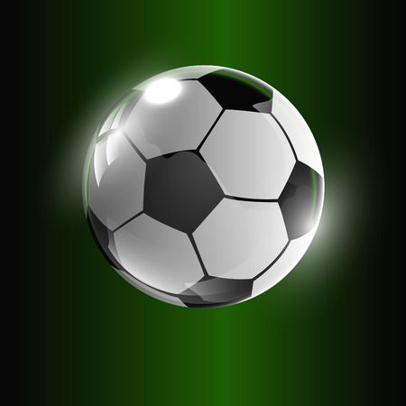 offside: dark green background with soccer ball.vector illustration
