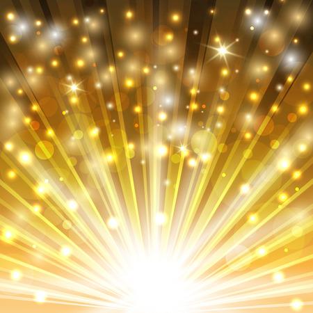 빛나는 반짝임과 반짝이와 황금 스파클링 배경. 벡터 일러스트 레이 션