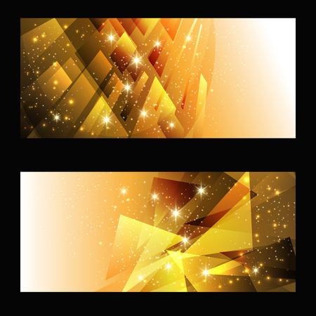 distort: golden abstract glowing background. vector illustration Illustration