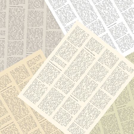 scrap paper: background of pages of vintage newspapers. vector illustration Illustration