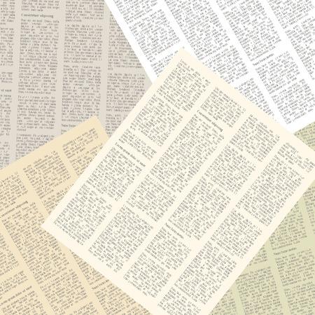periodicos: fondo de las páginas de los periódicos de época. ilustración vectorial Vectores
