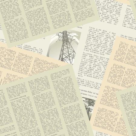 oude krant: naadloze achtergrond van de pagina's van vintage kranten. vector illustratie