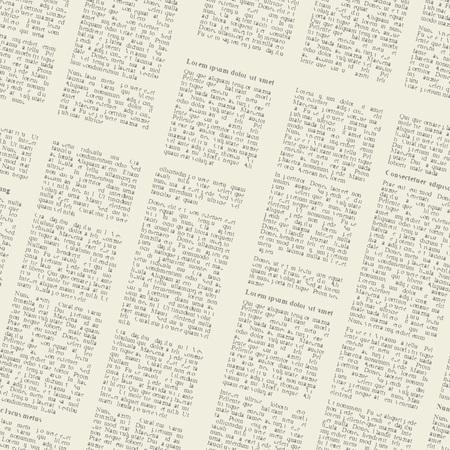 빈티지 신문의 페이지의 원활한 배경입니다. 벡터 일러스트 레이 션