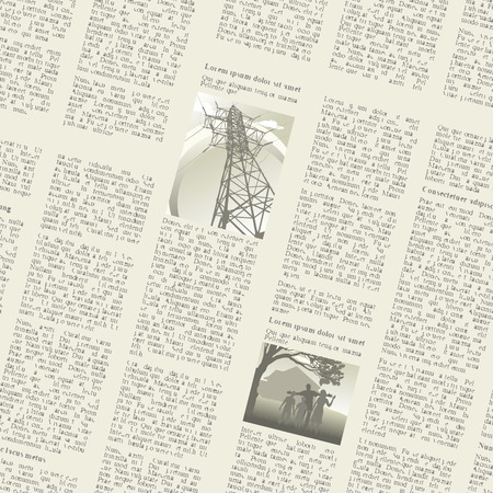 unreadable: seamless background of pages of vintage newspapers. vector illustration
