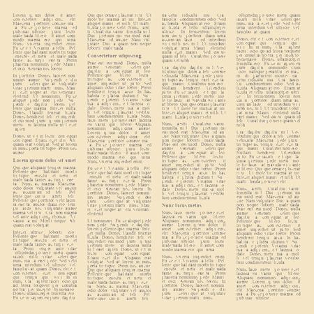 oude krant: achtergrond van de pagina's van vintage kranten. vector illustratie