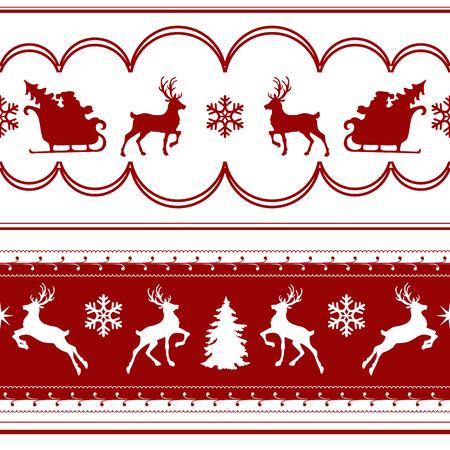 사슴 원활한 크리스마스 패턴 샘플. 벡터 일러스트 레이 션