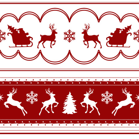 color pattern: sample seamless Christmas pattern with deer. vector illustration