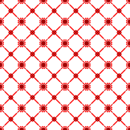twill: Seamless abstract red and white pattern. Vector illustration