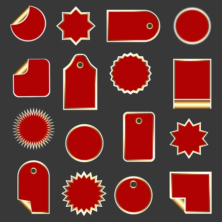 Set of stickers, labels, icons and banners for sale. Collection of design elements for markets, stores and shops. Vector illustration. Illustration