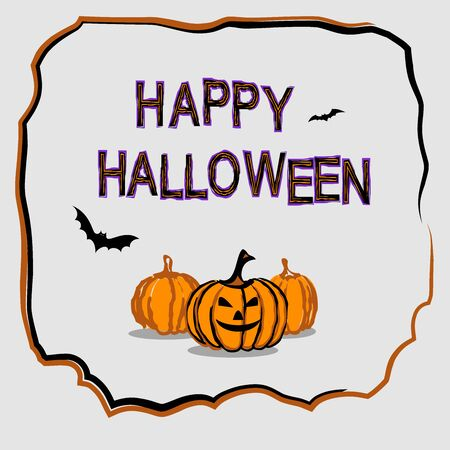 Happy Halloween poster. Template for Halloween invitation. Vector illustration for greeting card. 일러스트