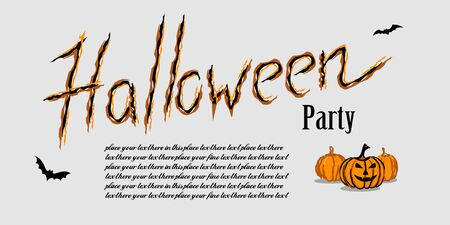 Happy Halloween flyer. Template for Halloween invitation. Vector illustration for greeting card or celebratory letter.