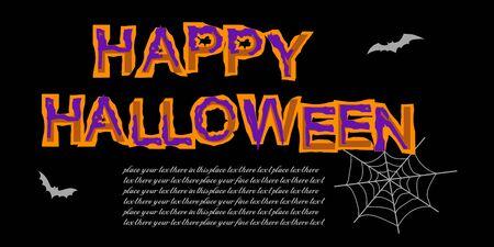 Happy Halloween invitation letter. Template for Halloween flyer. Vector illustration for greeting card or celebratory letter.