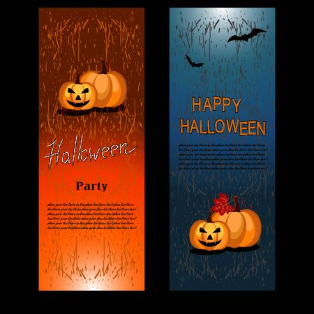 Happy Halloween card. Background for Halloween invitation. Vector illustration for greeting letter.
