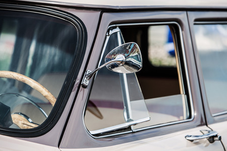 pretty s shiny: close-up view of a classic vintage car Stock Photo