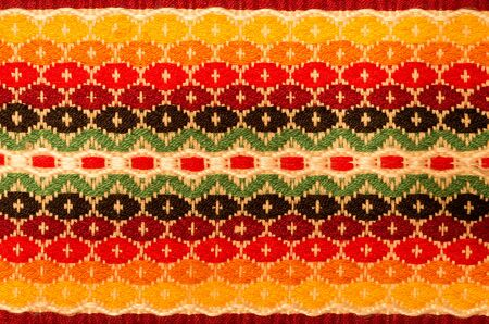 Traditional color tablecloth. A palette of colors for decorating the interior.