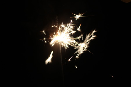 fire crackers: Christmas colorful sparklers holiday background for xmas new year