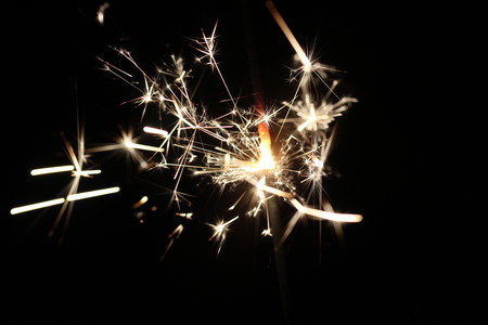 Christmas colorful sparklers holiday background for xmas new year