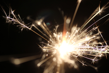 sear: Christmas colorful sparklers holiday background for xmas new year